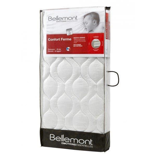 BELLEMONT Matelas Bébé - 70x140x12 cm - Confort Ferme