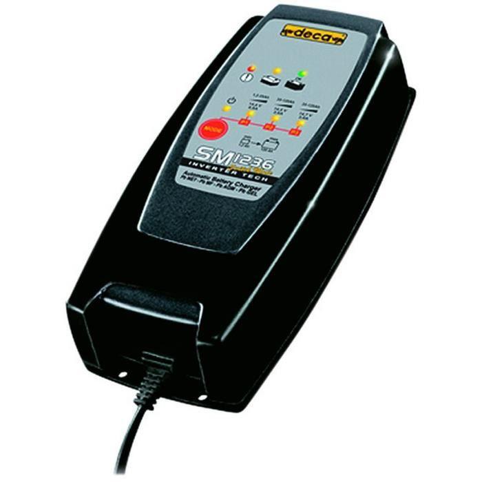 DECA Chargeur de Batterie jusqu'à 120 Ah