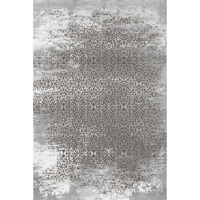 Thema tapis de salon 100 polyester 200x290 marron