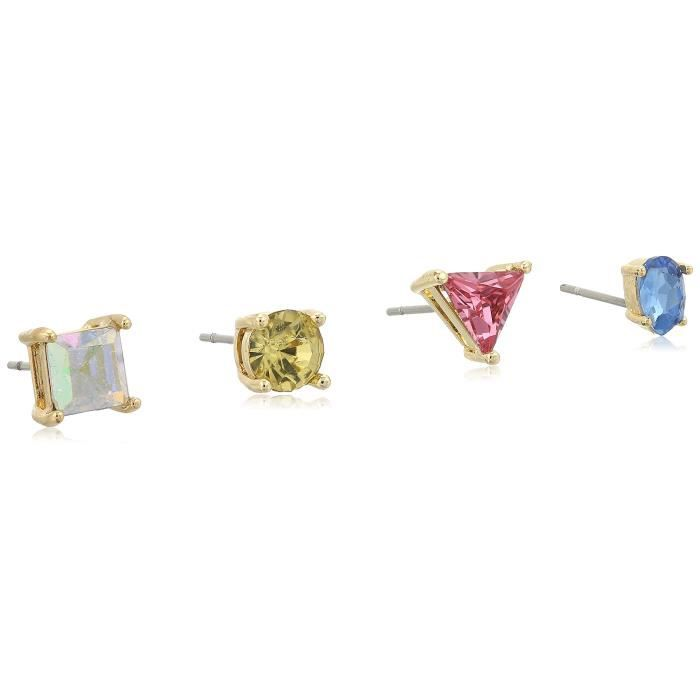 Color Binge 4 Piece Mix Pink Stud Earrings NQXWN