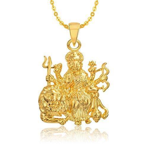 Femmes Dieu Pendentif avec des cadeaux de la chaîne en laiton Set bijoux, or jaune zircon, diamant en alliage T10TU