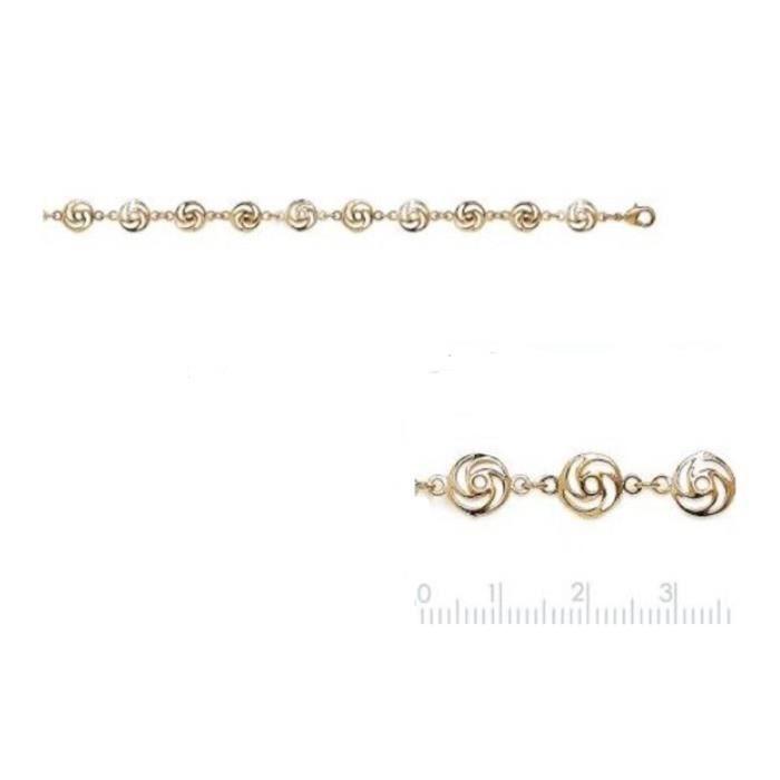 Bracelet plaqué or 3 microns avec écrin- 60028