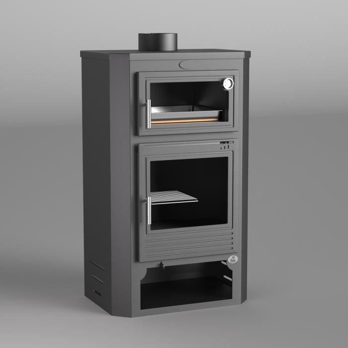 m 104 po le bois en acier avec four et b cher achat. Black Bedroom Furniture Sets. Home Design Ideas
