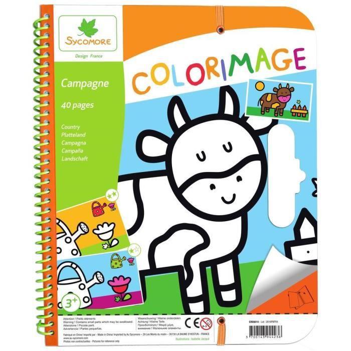 carnet de coloriage 3 ans campagne - Coloriage 3 Ans