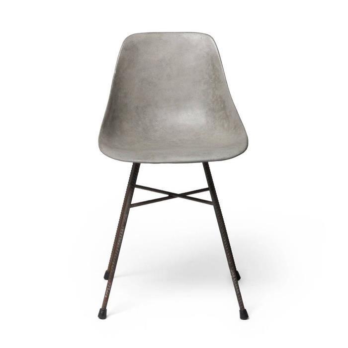 Chaise Design Bton Hauteville Couleur Gris
