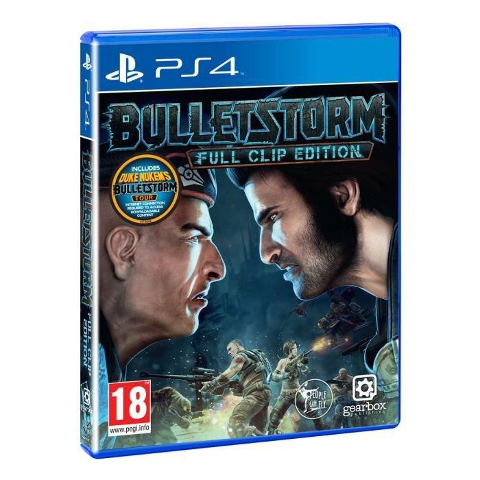 JEU PS4 Bulletstorm Full Clip Edition PS4 + 2 Light Bar Sk