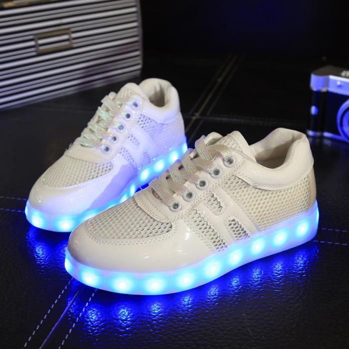 Home Femme 26 Couleur USB Charge LED Lumière Lumineux Clignotants Chaussures de Sports Baskets