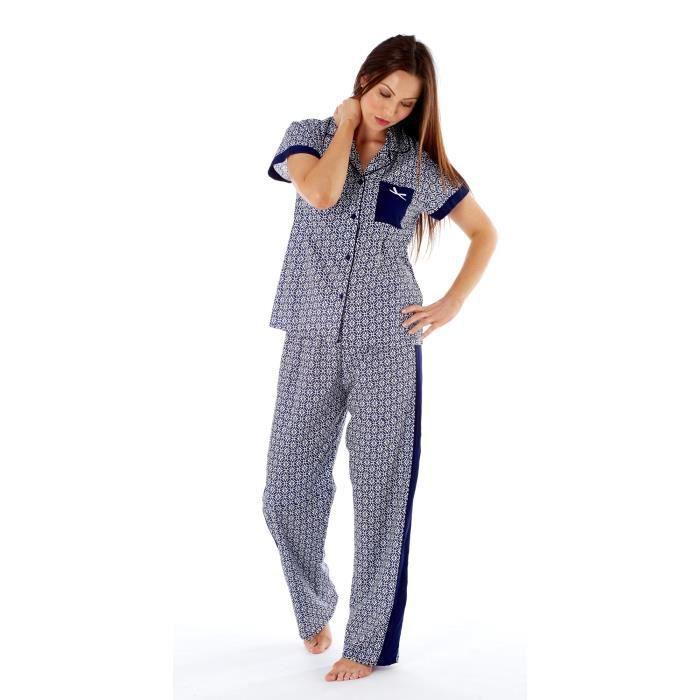 b9c774394c8d2 Selena Secrets Cristina Ensemle Top & Pantalon ... Navy - Achat ...