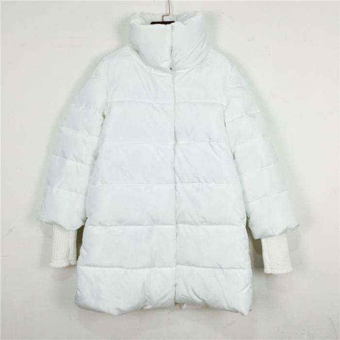 meilleures baskets f8cc7 08a5b les femmes col robe d'hiver long manteau Blanc