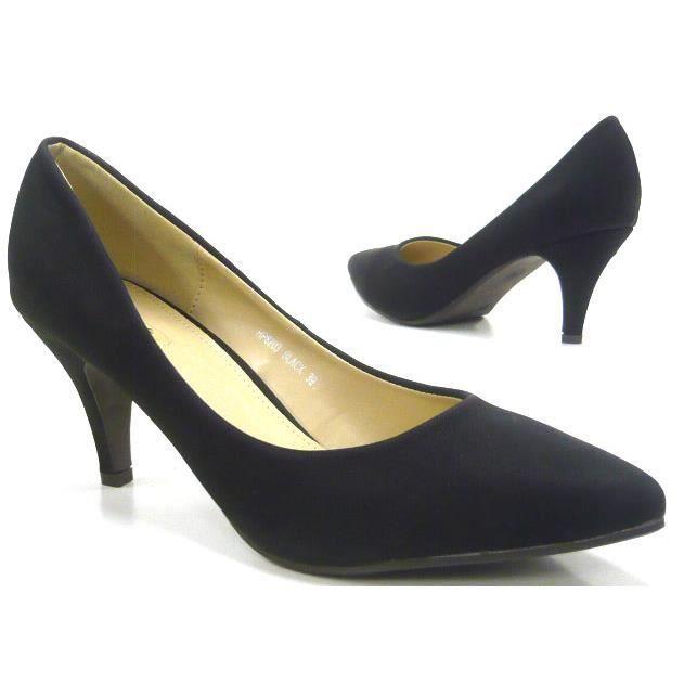 femmes chaussures élégant classique l'escarpin chaussures noir 38 UNI1vcMtkU