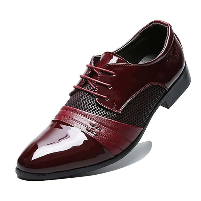 Respirants Robe doublée en cuir perforé Oxfords Chaussures FXLV5 Taille-46 FXCeevw2H6