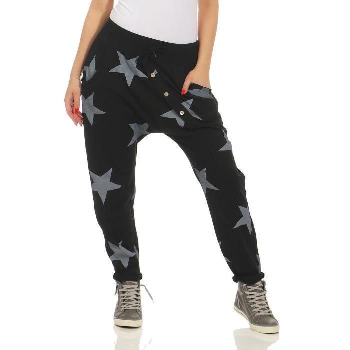 femmes zarmexx pantalons de survêtement baggy petit ami avec bouton face pantalons  de loisirs jogging pantalons coton t 3SQU7C Taill fdb9e62f3ef