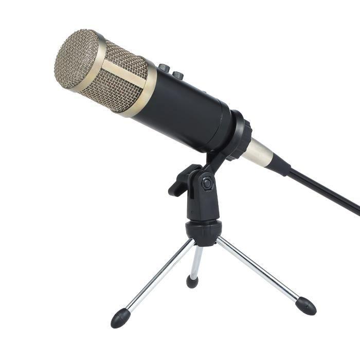 Microphone À Condensateur Professionnel Avec Fonction De Réverbération Compatible Trépied D'interface Aux
