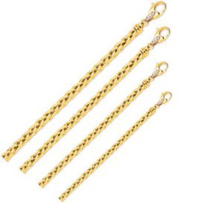 Bracelet Avec Mailles Palmiers - TU Or Jaune