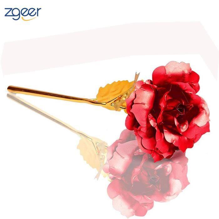 9e169ec180a Fleurs stabilisées 24K Rose Fleur- Rose éternelle -Cadeau Femme idée