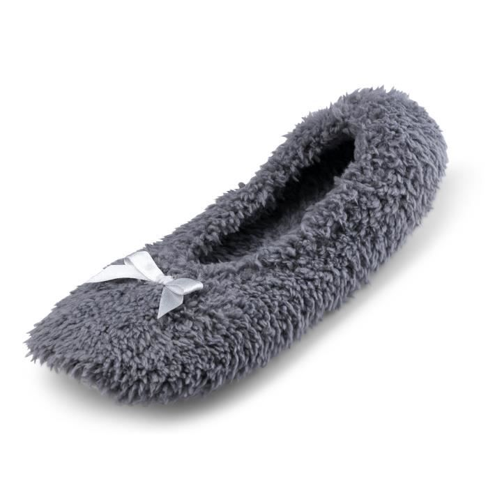 Cartoon Club Fuzzy Ballerina In House Slippers W-soft Cotton Terry Lining | Most Comfortable Home Footwear BC27J Taille-M