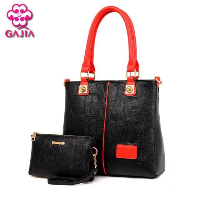 sac à main Femmes de haute qualité en cuir Lady Bag Casual Composite Ensembles Sacs femmes-1234