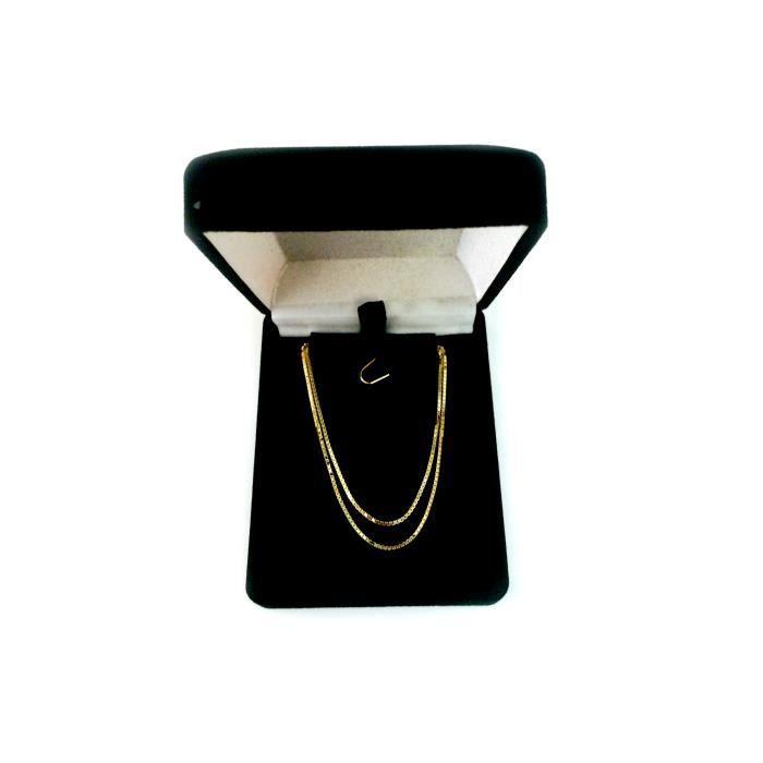 Chaîne- 10 k miroir classique or jaune boîte , 1,0 mm, 22