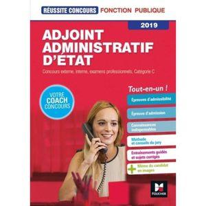 0b8628f2f61 LIVRE DROIT PUBLIC Adjoint administratif d Etat catégorie C. Edition