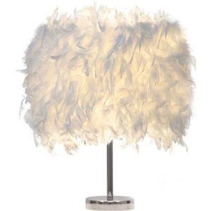 LAMPE A POSER luminaire plume,lampe de chevet, chambre vintage c