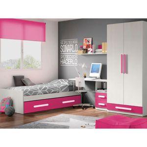 Chambre enfant Complète DECO 317 Blanc/Rose - Achat / Vente chambre ...