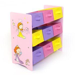 ÉTAGÈRE - BIBLIOTHÈQUE Meuble de rangement étagère jouet panier chambre e