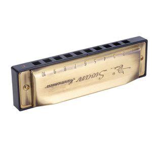 HARPE C Key 10 Trous Harmonica Chromatique de Blues (Cou