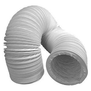 /ø125mm*5m, Blanc Climatisation Tuyau dEvacuation S/èche-linge HG POWER Gaine de ventilation Flexible en PVC pour Extracteur dAir