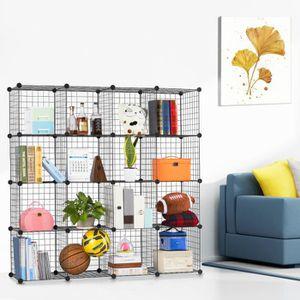 ARMOIRE DE CHAMBRE Langria 10 Cubes Armoires Grilles métalliques Meub