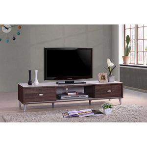 ARMOIRE DE CHAMBRE Meuble TV ANKARA 150 cm avec deux portes coulissan