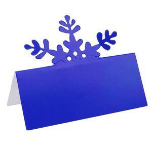 MARQUE-PLACE  Marque-place flocon bleu (x10) REF/5020