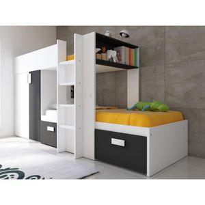 Lit superpose avec armoire integre achat vente lit superpose avec armoire integre pas cher - Lit superpose avec armoire integree ...