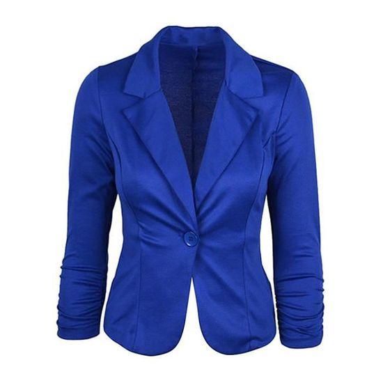 Veste Ajusté Basique Blazer Élégant OL Minetom de Jacket Costume Longues  Manteau Blazer Slim Fit Femme ... bed1888762b1