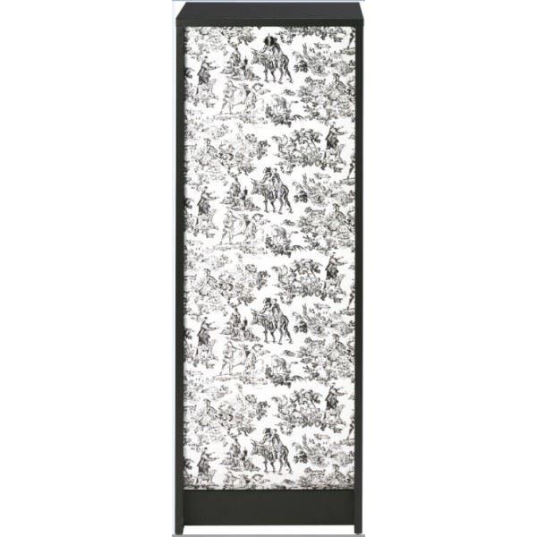 Classeur à rideau 378 cm noir imprimé toile de jouy