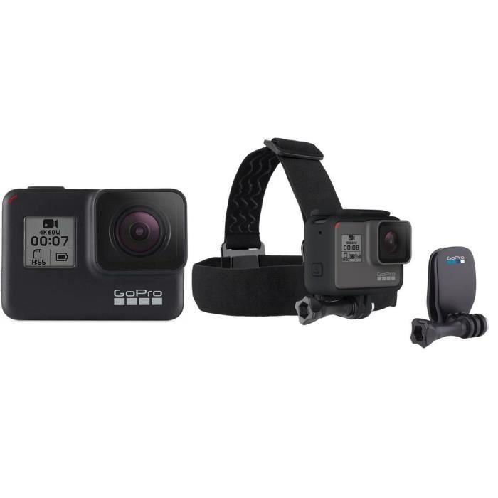 GOPRO HERO7 Caméra de sport Action Cam Noir + Bandeau