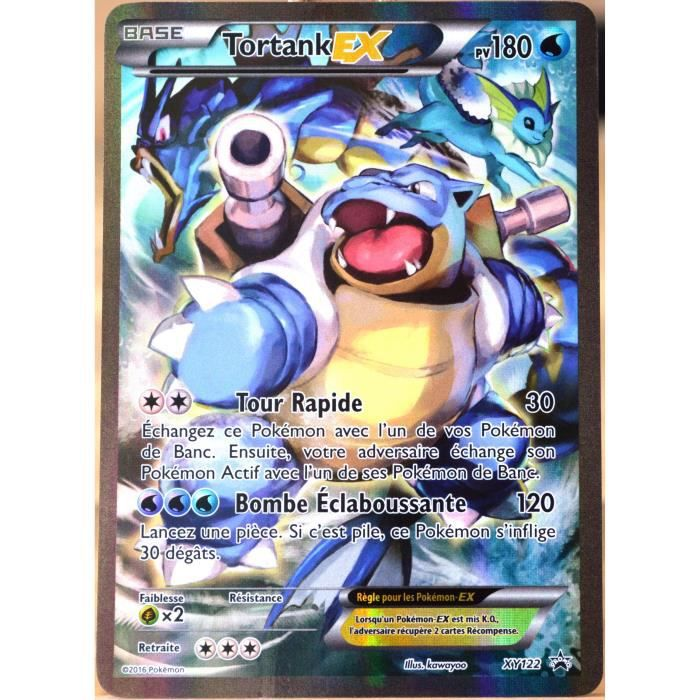 Carte pok mon xy122 tortank ex 180 pv full art promo fr - Carte de pokemon a imprimer ...