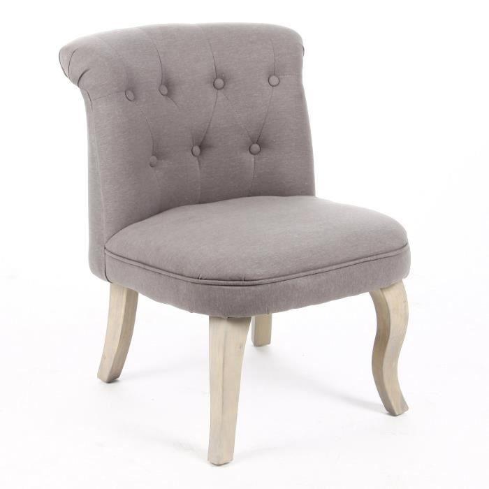 fauteuil crapaud lin et coton coloris gris achat vente fauteuil soldes d s le 27. Black Bedroom Furniture Sets. Home Design Ideas