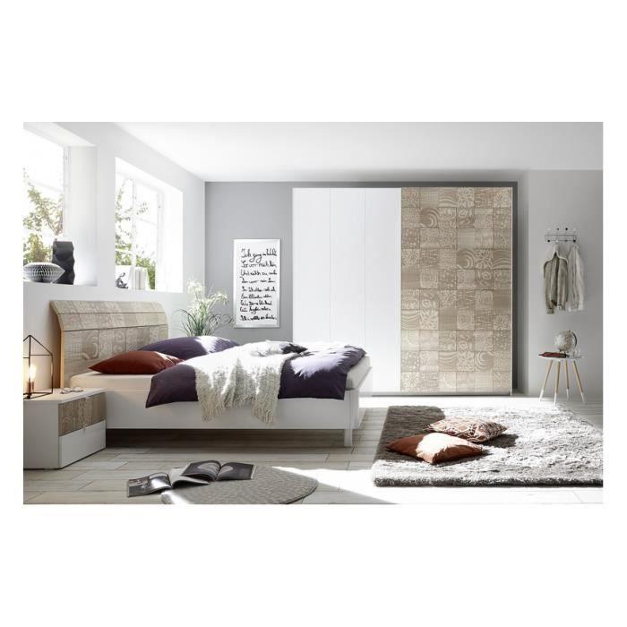 Chambre complète AVOLTE - Couleur: Beige - Chambres adultes
