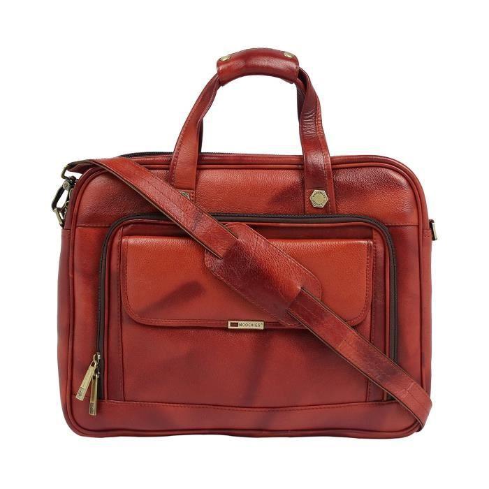Bureau en cuir pur hommes cum Laptop Bag - A Marque En Inde Exquiste Designer Produit USR5V