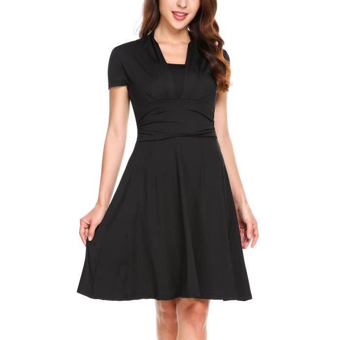 Femmes robe à manches courtes