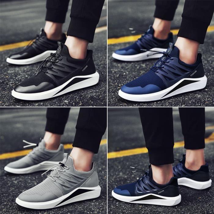Skateshoes Homme Les étudiants desd'été - autummn tissu net accrue Skater interne noir taille10