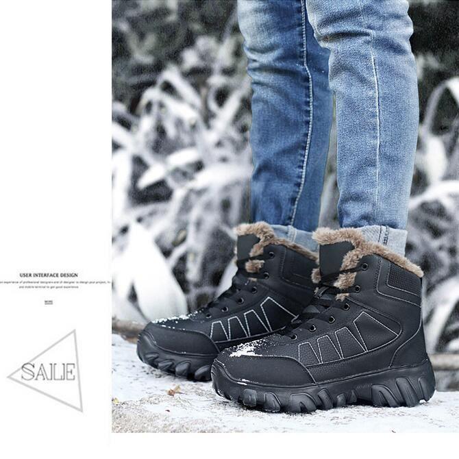 Botte De Neige Meilleure Qualité Antidérapant Confortable Hiver Chaussure Garde Au Chaud Coton Beau Bottine Plus De Cachemire 38-49