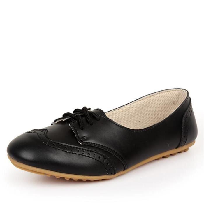 Chaussures Femmes Cuir Occasionnelles Leger Chaussure BBJ-XZ043Noir35 lSnUchMa