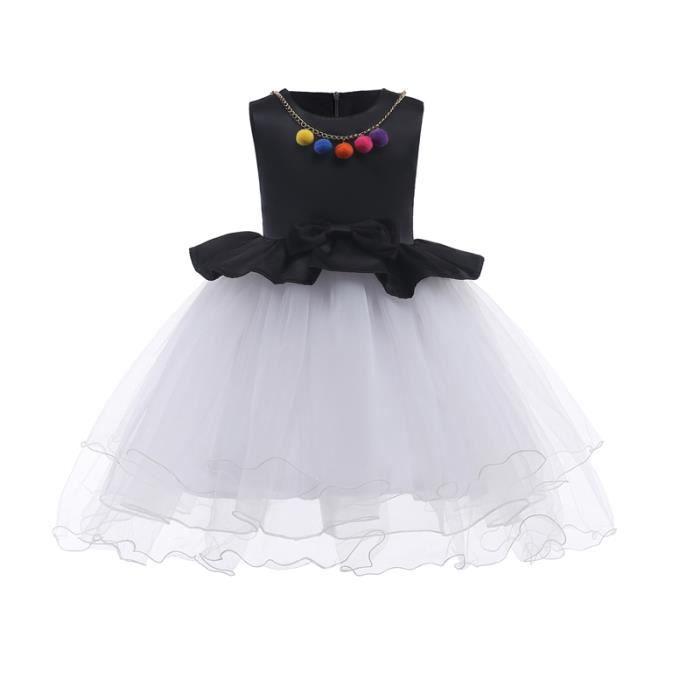 d3780c52c5d Robe de filles boucle sans manches style européen et américain jupe enfants  Robe en dentelle Jupe en maille fille