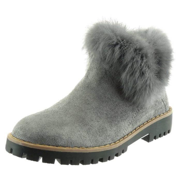 12a6a5d6c6 Boots femme fourrure - Achat / Vente pas cher