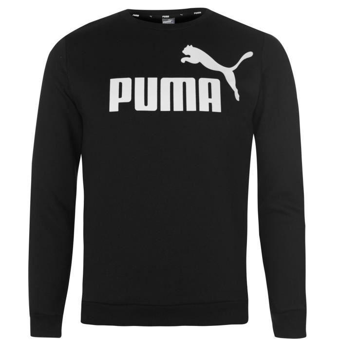 b87244f03a265 Puma Enfant Garçon Sweat Col Rond Imprimé Noir Noir - Achat   Vente ...