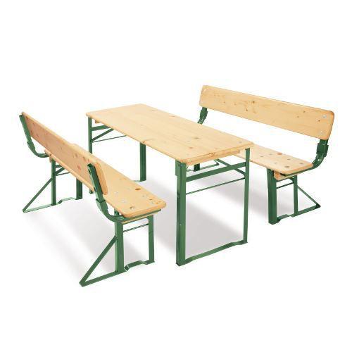 table et bancs pour enfant sepp avec dossiers achat. Black Bedroom Furniture Sets. Home Design Ideas