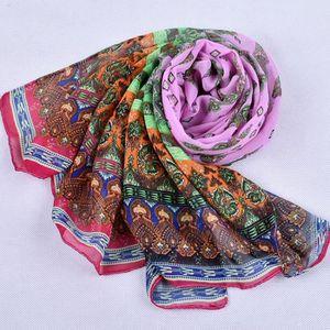 ... ECHARPE - FOULARD Foulard en mousseline de soie châle imprimé femme. ‹› 4cac813d022