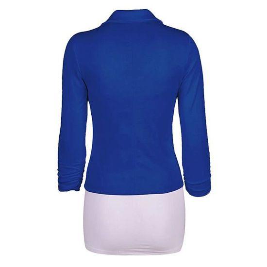 ... Veste Ajusté Basique Blazer Élégant OL Minetom de Jacket Costume  Longues Manteau Blazer Slim Fit Femme 407bf74e4c9b