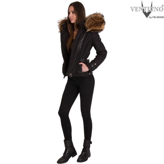 632e225123 cuir matière femme cuir femme EMILY d'agneau doudoune femme et bi doudoune  ventiuno veste véritable Ventiuno fourrure doudoune qw1x4aOXI